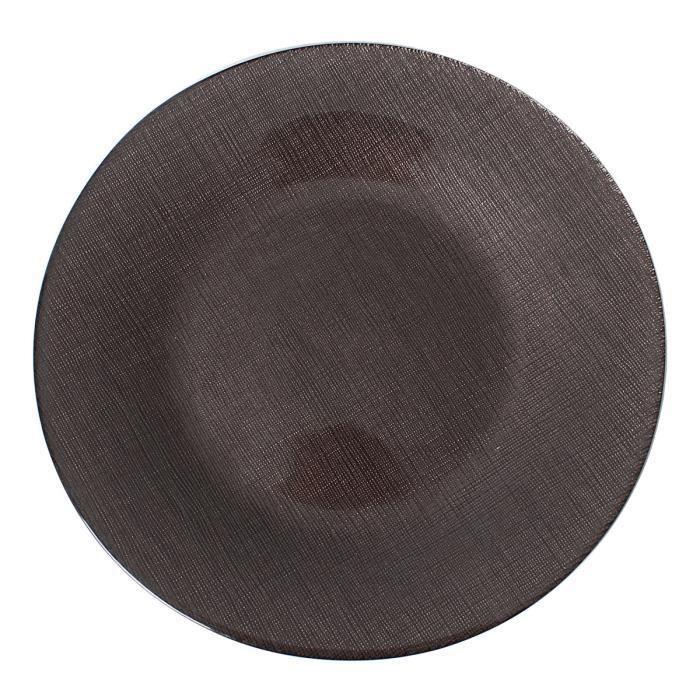 astrid taupe assiette plate lot de 6 achat vente assiette cdiscount. Black Bedroom Furniture Sets. Home Design Ideas