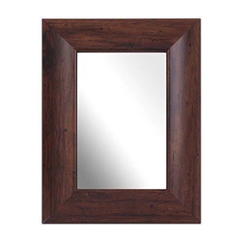 inov8 6 x 10 cm lot de 2 miroirs traditionnels noyer achat vente miroir cdiscount. Black Bedroom Furniture Sets. Home Design Ideas