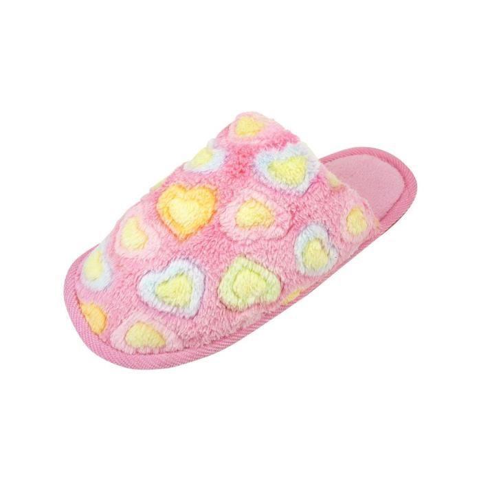pantoufles femme chaussons chaud d 39 int rieur p rose achat vente chausson pantoufle. Black Bedroom Furniture Sets. Home Design Ideas