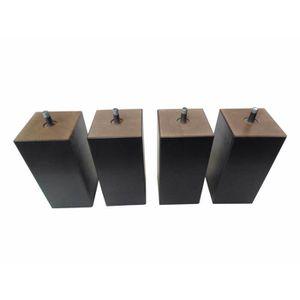pieds de lit a visser 8 cm achat vente pieds de lit a visser 8 cm pas cher cdiscount. Black Bedroom Furniture Sets. Home Design Ideas