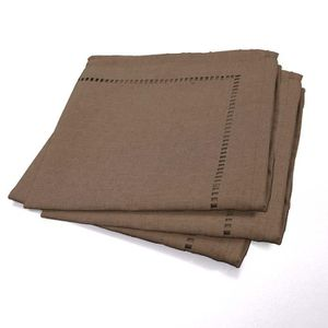 SERVIETTE DE TABLE Set de 3 serviettes Chambray Élégance 40x40 cm cho