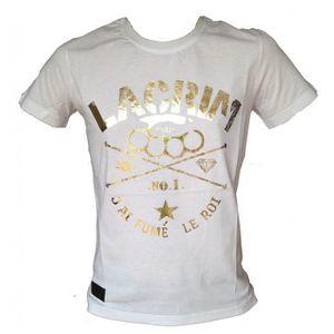 T-SHIRT Tee shirt LACRIM officiel manches courtes blanc...