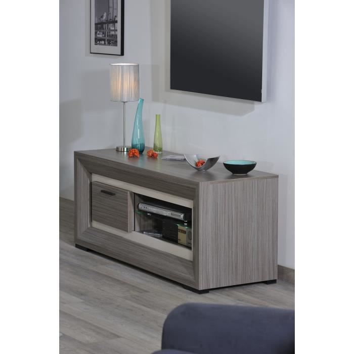 Lynea meuble tv 140 cm gris achat vente meuble tv for Meuble 5 etoile nahli