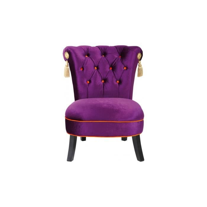 Fauteuil saloon violet kare design achat vente fauteuil violet cdiscount - Fauteuil violet design ...