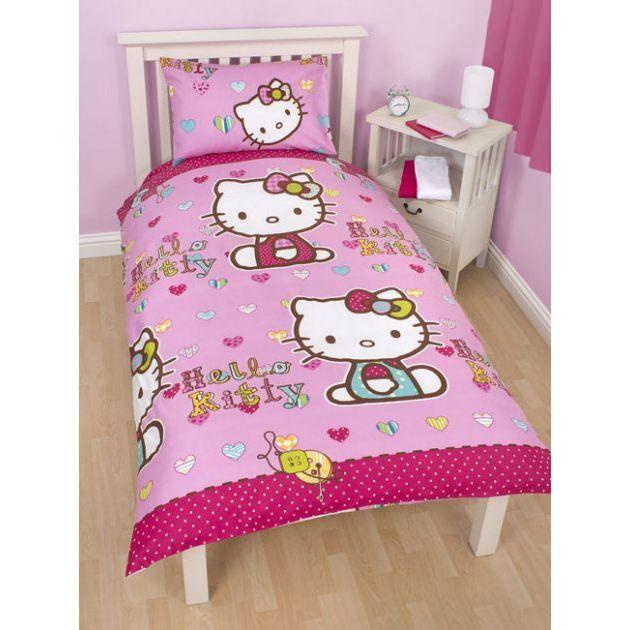 hello kitty parure de lit housse de couette achat. Black Bedroom Furniture Sets. Home Design Ideas
