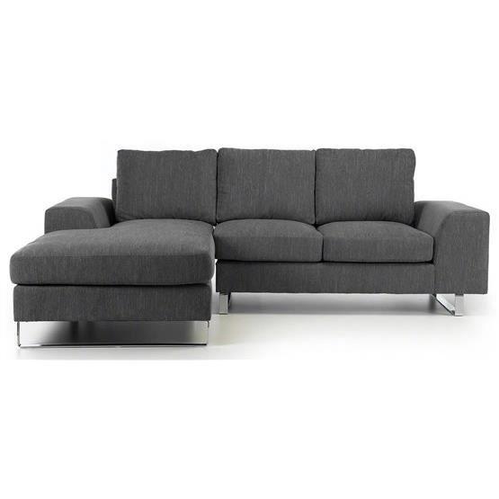 canap d 39 angle yela gris fonc angle gauche achat vente canap sofa. Black Bedroom Furniture Sets. Home Design Ideas