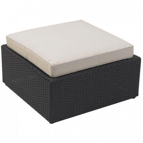 table pouf en r sine tress e avec coussins achat vente chaise fauteuil jardin table pouf. Black Bedroom Furniture Sets. Home Design Ideas