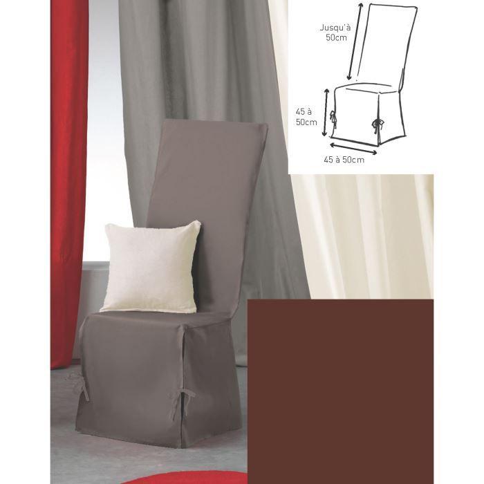 housse de chaise 50x50x50 panama choco achat vente housse de chaise cdiscount. Black Bedroom Furniture Sets. Home Design Ideas