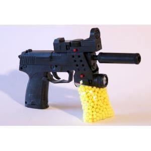 pistolet a billes 22 cm fg silencieux vis e lase prix. Black Bedroom Furniture Sets. Home Design Ideas