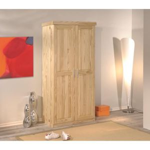 Armoire pin achat vente armoire pin pas cher cdiscount for Armoire chambre bois massif