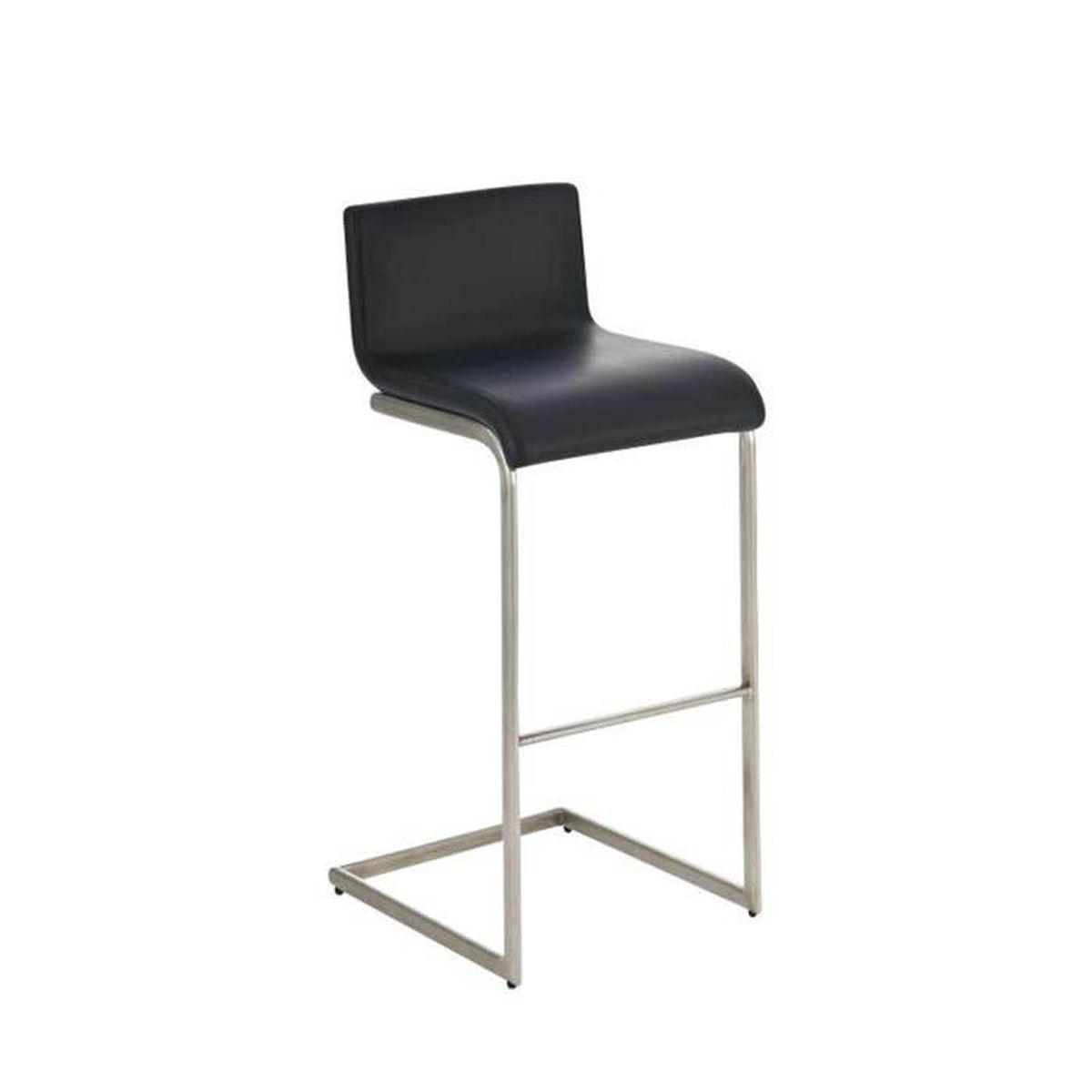 tabouret de bar avec si ge en similicuir coloris noir 96 x 50 x 40 cm achat vente tabouret. Black Bedroom Furniture Sets. Home Design Ideas