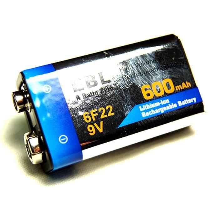 Pile 9v rechargeable li ion 600mah ebl achat vente - Pile 9v rechargeable ...