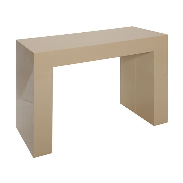 Brilliant TABLE À MANGER Table Console Extensible Laquée Beige Korianna 640 x 640 · 14 kB · jpeg