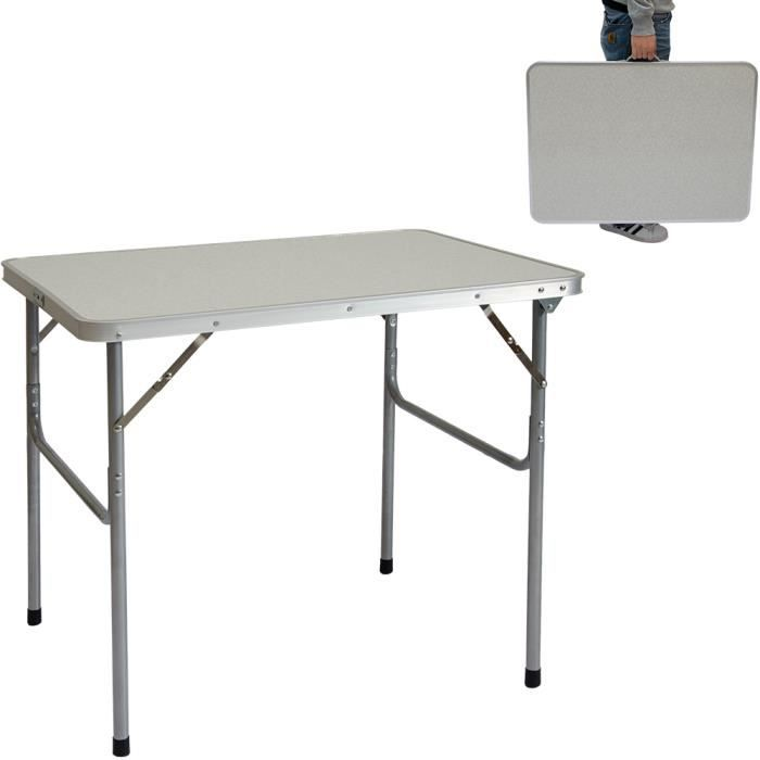 table de camping portable pliante en mallette table de pique nique structure en acier env. Black Bedroom Furniture Sets. Home Design Ideas