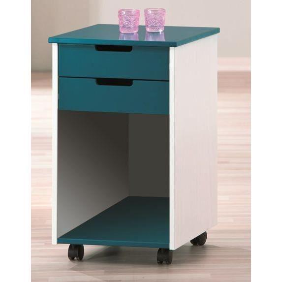 Caisson 2 tiroirs sur roulettes alexandro achat vente for Petit caisson a tiroir