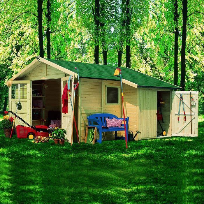 Abri de jardin bois m2 westerland 19mm achat vente abri jardin chalet abri de for Abri de jardin en bois la redoute