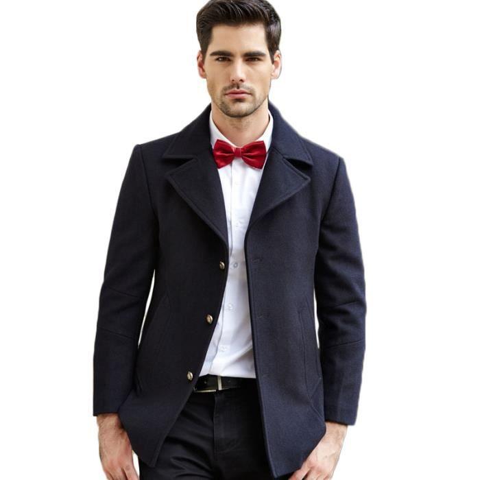 duffle coat manteau en laine homme trench homme bleu marine achat vente manteau caban. Black Bedroom Furniture Sets. Home Design Ideas