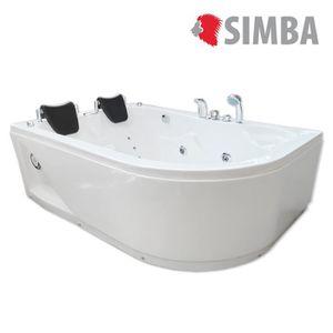 Baignoire achat vente baignoire pas cher cdiscount - Baignoire balneo 2 personnes ...
