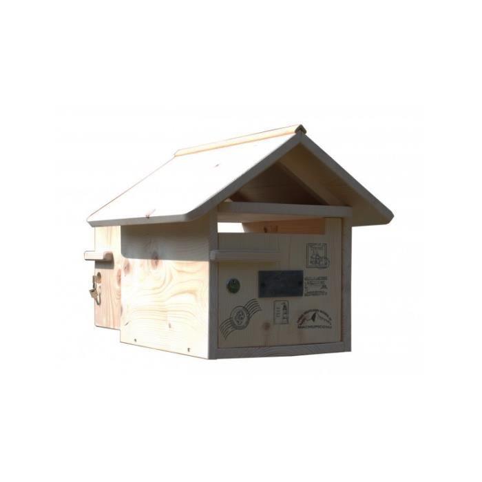 boite aux lettres bois routard 2 portes achat vente boite aux lettres cdiscount. Black Bedroom Furniture Sets. Home Design Ideas