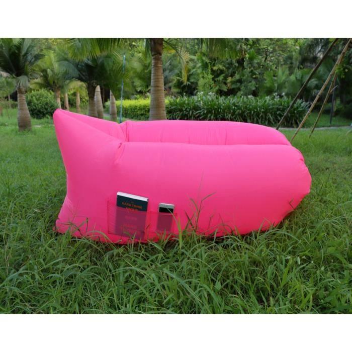 Lamzac canap gonflable avec poche sofa ext rieur sac de for Coussin sofa exterieur