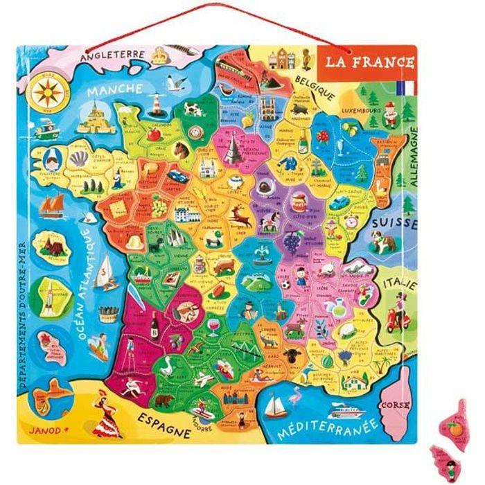 PUZZLE Puzzle France Magnétique