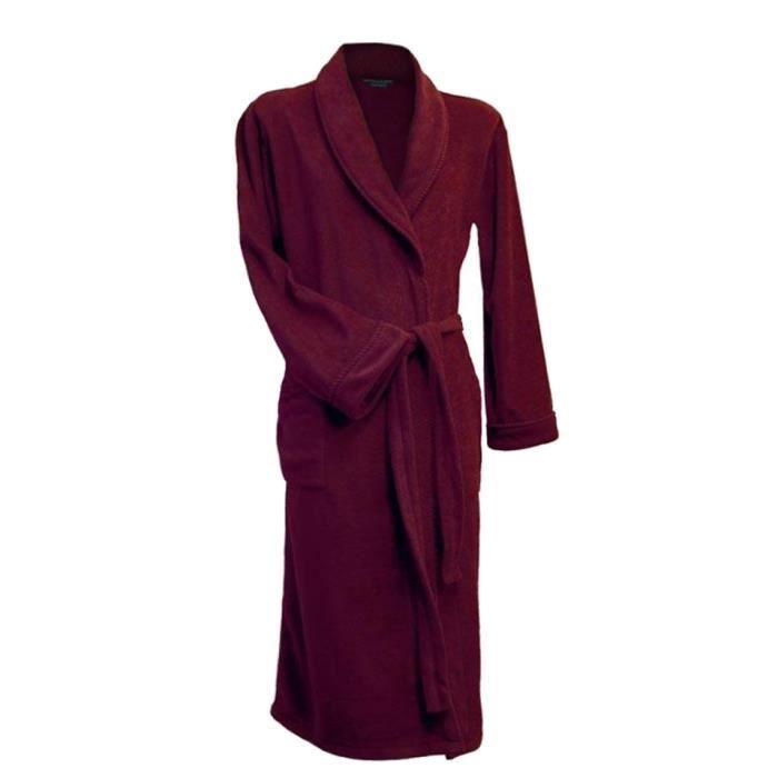Lloyd attree smith robe de chambre en maille polaire homme bordeaux achat vente robe - Achat robe de chambre homme ...