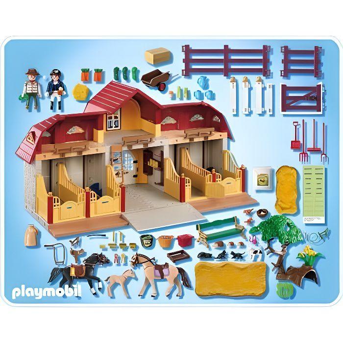 Playmobil 5221 jeu de construction haras avec - Playmobil haras ...