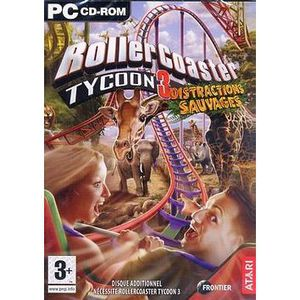 JEU PC ROLLERCOASTER TYCOON 3 DISTRACTIONS SAUVAGES