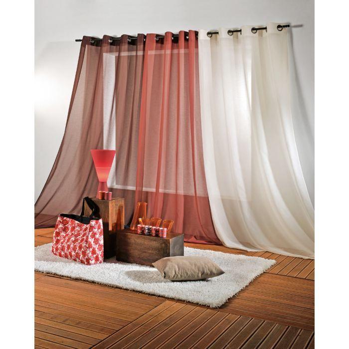 rideau vend me 145x240 rouille achat vente rideau 100 polyester les soldes sur cdiscount. Black Bedroom Furniture Sets. Home Design Ideas