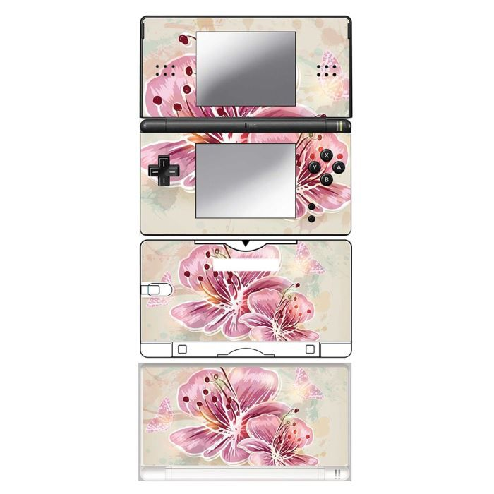 skin stickers pour nintendo ds lite sticker pink spring flowers achat vente protection. Black Bedroom Furniture Sets. Home Design Ideas