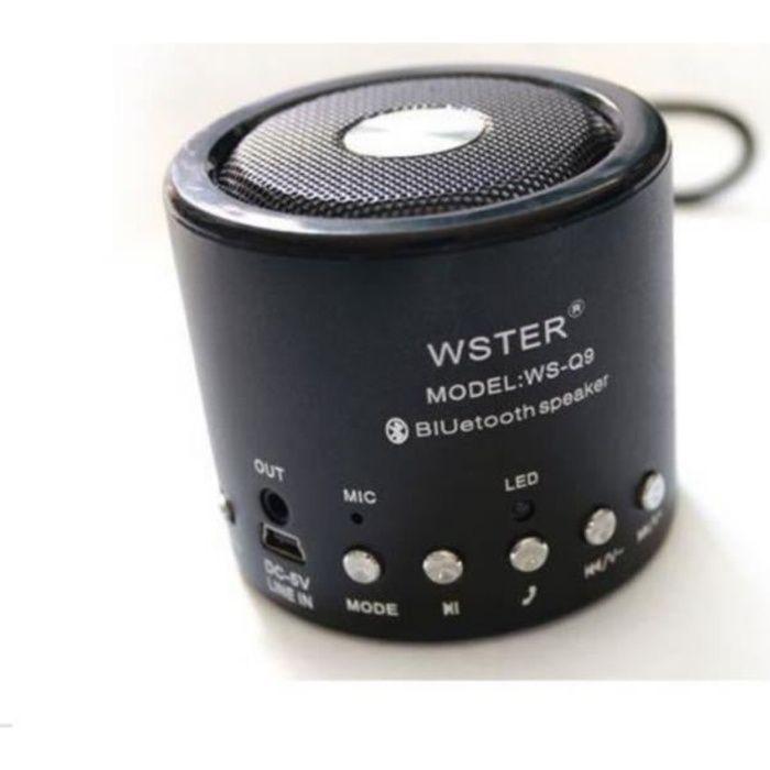 mini enceinte noir bluetooth radio fm leds enceintes bluetooth avis et prix pas cher. Black Bedroom Furniture Sets. Home Design Ideas