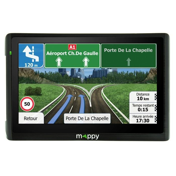 gps mappy carte europe 14 pays