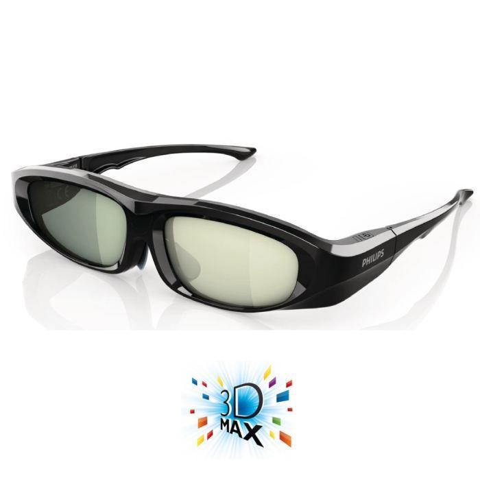philips pta518 lunettes 3d active lunettes 3d prix pas. Black Bedroom Furniture Sets. Home Design Ideas