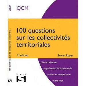 LIVRE DROIT PUBLIC 100 questions sur les collectivités territoriales