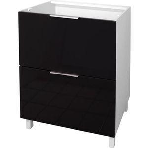 meuble cuisine bas noir achat vente meuble cuisine bas. Black Bedroom Furniture Sets. Home Design Ideas