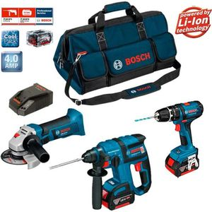 PACK DE MACHINES OUTIL Bosch Kit PSB3M3 Professional (GBH 18 V-EC + GSB 1