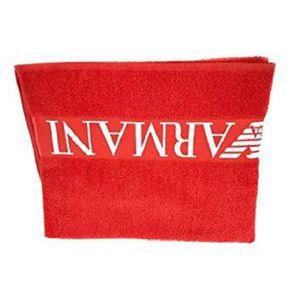 SERVIETTE DE PLAGE Draps de Plage Emporio Armani Rouge et Blanc