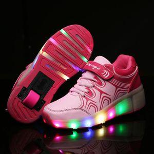 BASKET Enfants a conduit Chaussures enfants feux Roller S