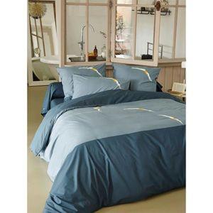 housse de couette grise 200x200 achat vente housse de couette grise 200x200 pas cher cdiscount. Black Bedroom Furniture Sets. Home Design Ideas