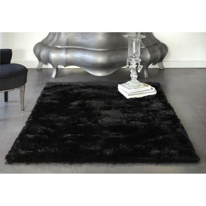 tapis noir polyester romtec 120 x 170 achat vente tapis tapis noir polyester romtec cdiscount