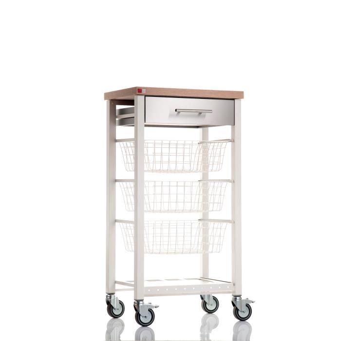 Chariot de cuisine sur roulettes tr s pratique achat for Support pour ustensiles de cuisine