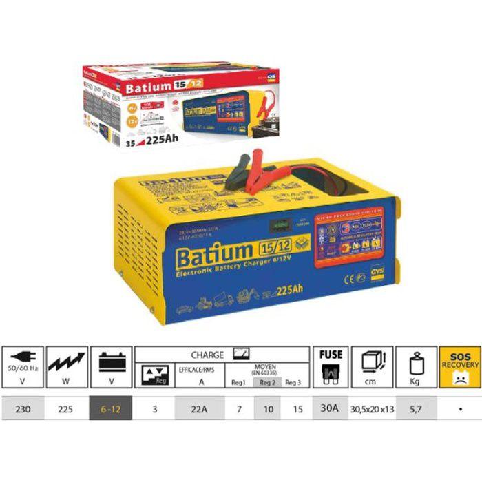 chargeur automatique batium gys 024519 achat vente chargeur de batterie gys 024519. Black Bedroom Furniture Sets. Home Design Ideas