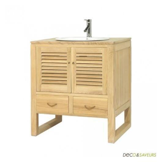Meuble vasque salle de bain en bois la maison achat for Meuble salle de bain maison
