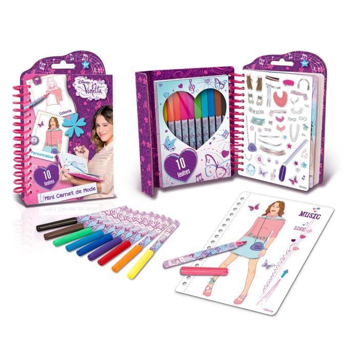 Violetta mini carnet de mode achat vente fil tour de - Jeux gratuits de violetta ...