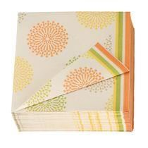 serviette de table lotus papier orange paquet de 50 serviettes non tiss es aspect et. Black Bedroom Furniture Sets. Home Design Ideas
