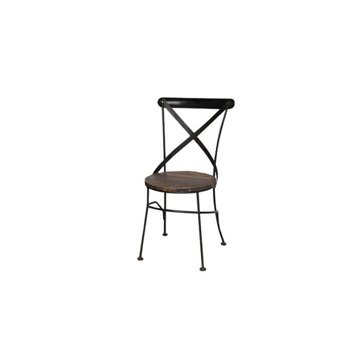 chaise industrielle bistrot m tal et bois color e cardiff achat vente c. Black Bedroom Furniture Sets. Home Design Ideas