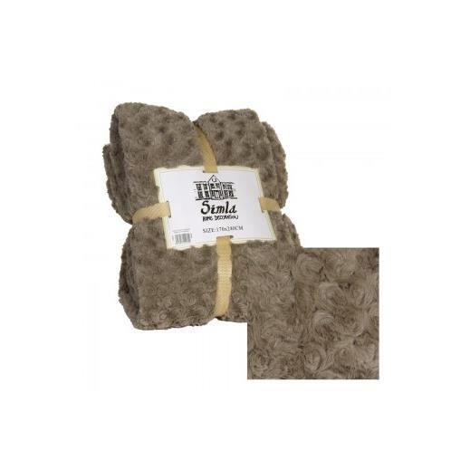 plaid brun 130 x 170cm simla achat vente couverture plaid cdiscount. Black Bedroom Furniture Sets. Home Design Ideas