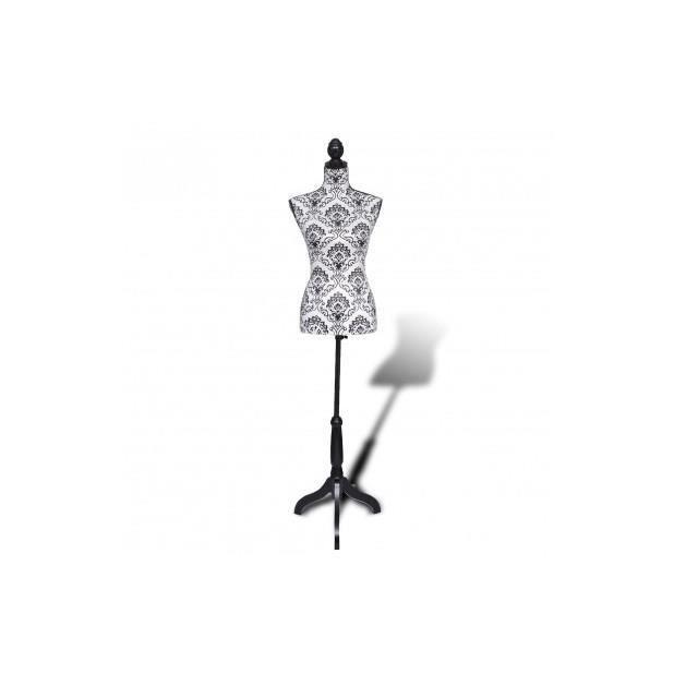 superbe buste de couture mannequin femme noir blanc achat vente buste mannequin cdiscount. Black Bedroom Furniture Sets. Home Design Ideas