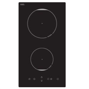 hudson tdi351n table de cuisson vitroc ramique 2 zones 3500w l28 8xp52cm rev tement verre noir. Black Bedroom Furniture Sets. Home Design Ideas