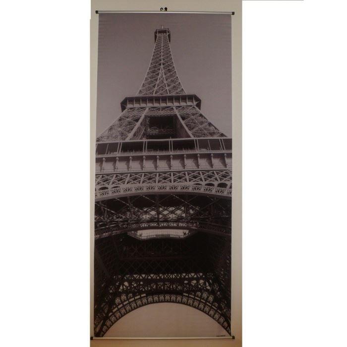 toile kakemono suspendre 170x70cm tour eiffel achat vente tableau toile toile tissu. Black Bedroom Furniture Sets. Home Design Ideas